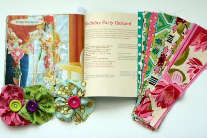 fabric birthday banner garland