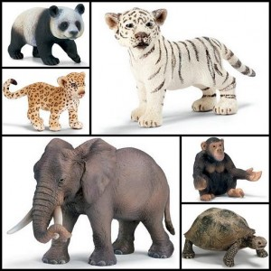 Schleich wild animal collection