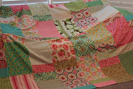 ginger blossom quilt michael miller fabrics