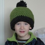 chunky roly brim crocheted hat pattern