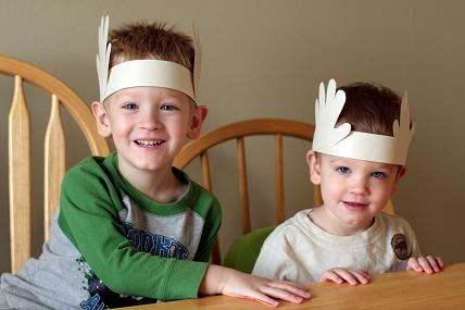 Christmas Headband Craft.Christmas Craft Reindeer Antlers