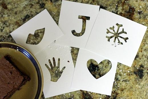 brownie stencils