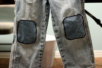 how to mend jeans