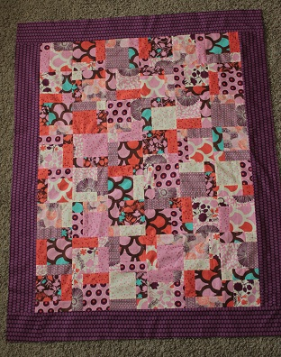 moda sugar pop disappearing 9 patch quilt