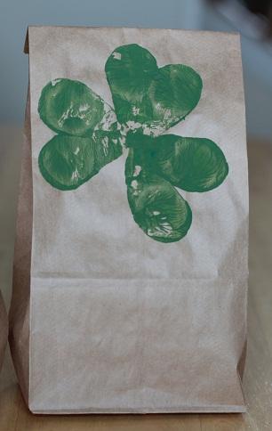 st. patricks day treat paper bag