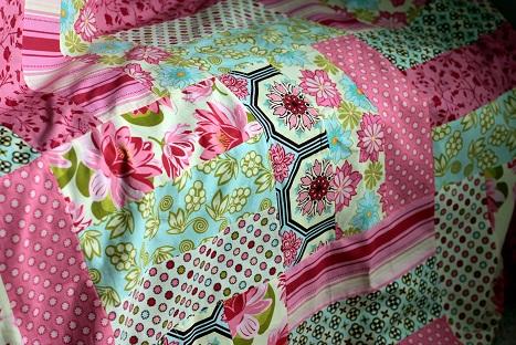 michael miller fabric ginger blossom quilt