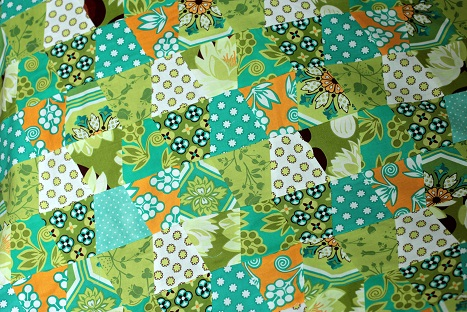 michael miller ginger blossom blues greens tumbler quilt