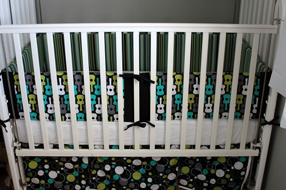 crib bumper and crib skirt tutorial