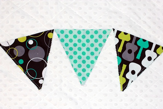 easy fabric birthday bunting