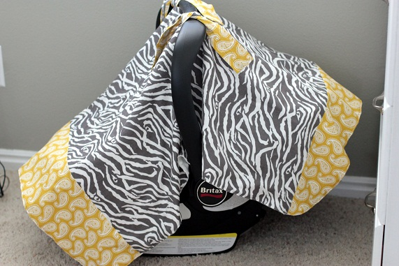 Make/Making/Sewing an Infant Car Seat Cover/Covers | Vanilla Joy