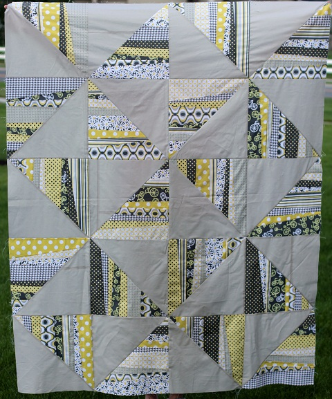 citron gray quilt