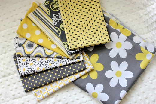 michael miller citron grey quilting fabric collection