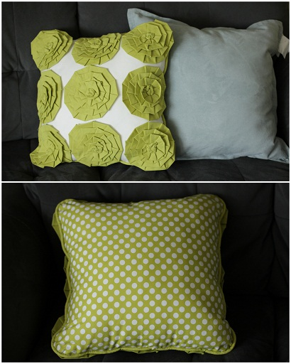 How to Make Accent Throw Pillow Covers Rosette Pillow Tutorial New Make Throw Pillow Covers