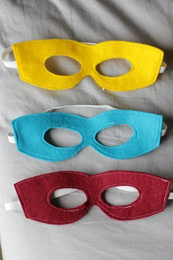 Printable Super Hero Mask TutorialTemplatePattern  Vanilla Joy