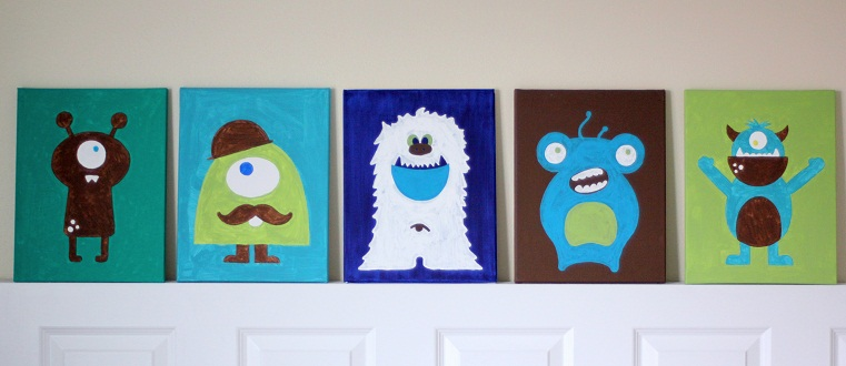 Cricut crafts boys room wall decor bump in the night for Art crafts for boys