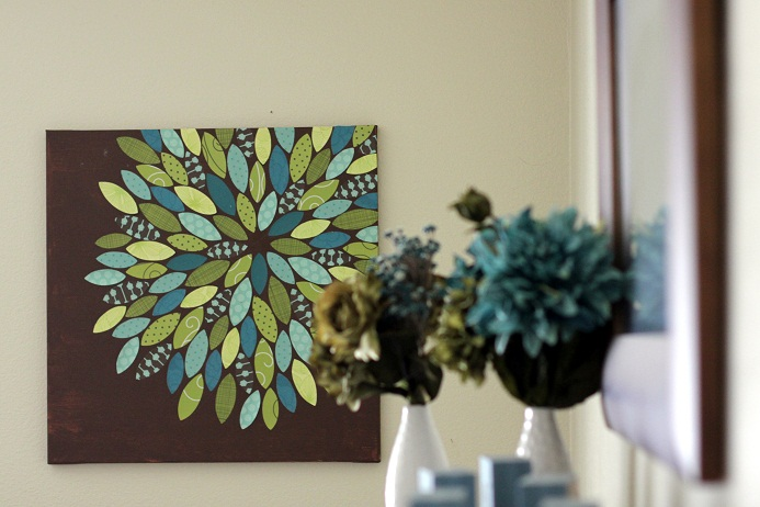 DIY Paper Flower on Canvas Tutorial by Vanilla Joy
