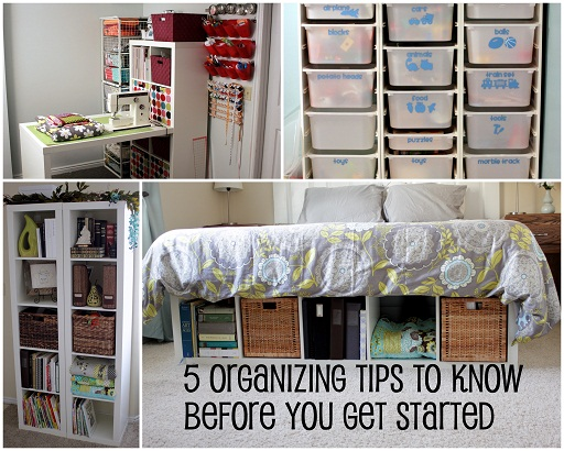 Winter Home Project Organization Spree
