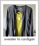 sweater to cardigan tutorial