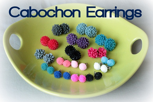 cabochon earrings mothers day gift idea