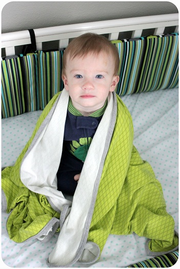 interlock knit baby blanket tutorial