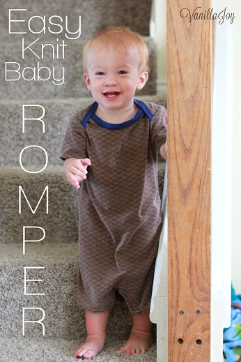 Infant/Baby Boy Romper Sewing Patterns Vanilla Joy