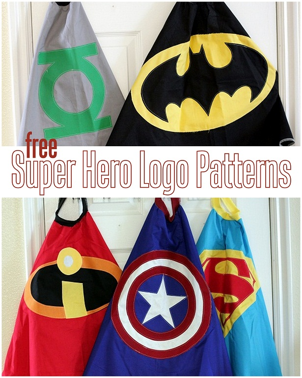 free super hero cape logo patterns vanilla joy