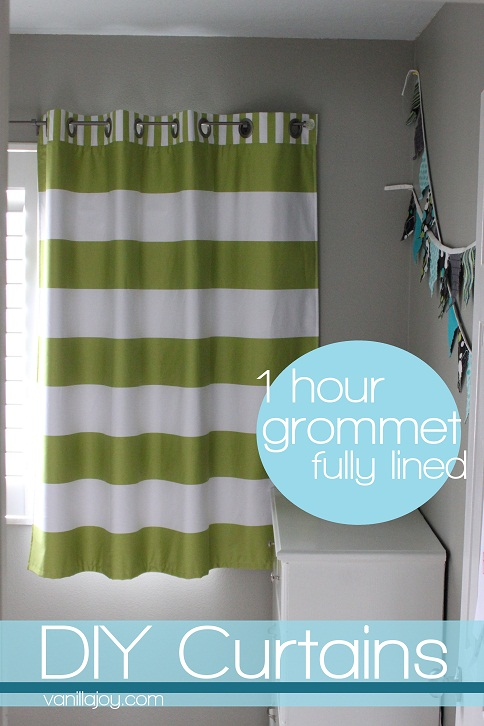 Curtains Ideas curtain grommets diy : Lined, Grommet Top Curtain Tutorial AND New Bekko Home Dec for ...