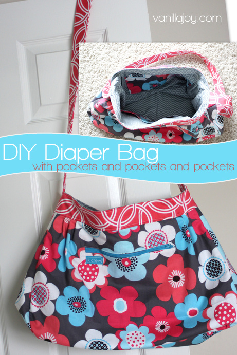 DIY Sewing Diaper Bag Pattern | Vanilla Joy