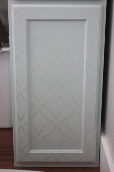 painted wall paper stencil