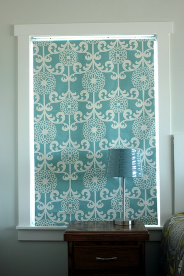 fabric covered roller shade