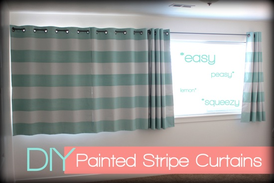 painted fabric curtains