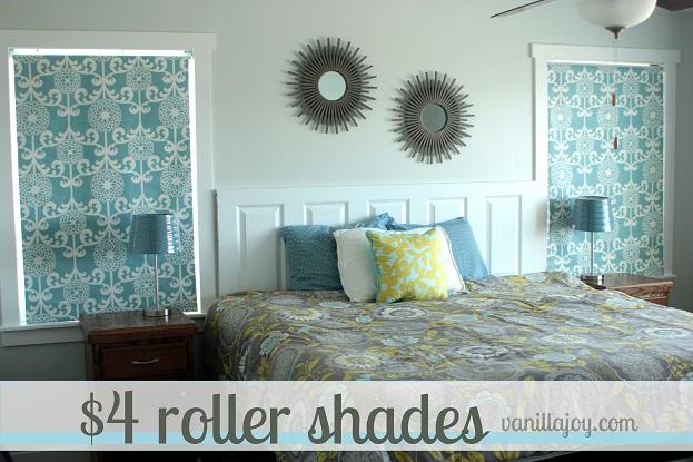 diy fabric roller shade
