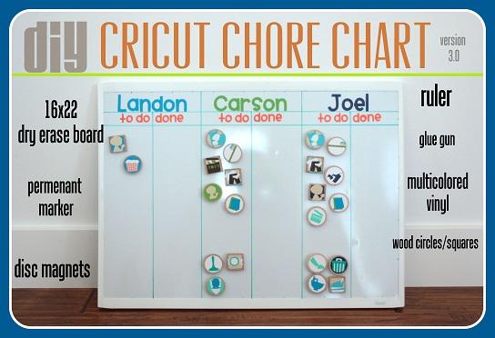 diy cricut chore chart