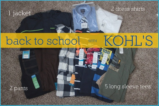 back to school shopping kohls