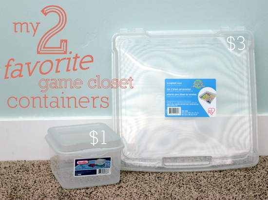 favorite game closet containers