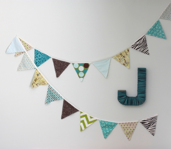 bunting wall decor