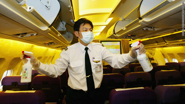 cnn airplane germs