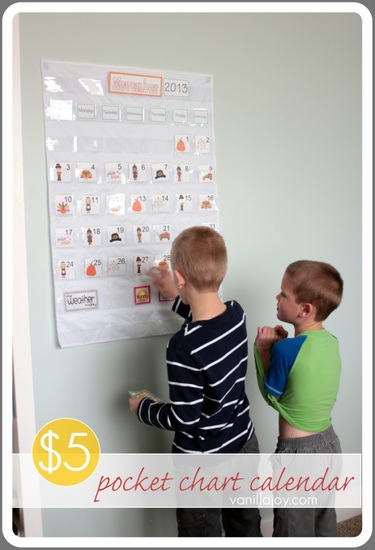 Diy Calendar Homeschool : Tutorial pocket chart calendar vanilla joy