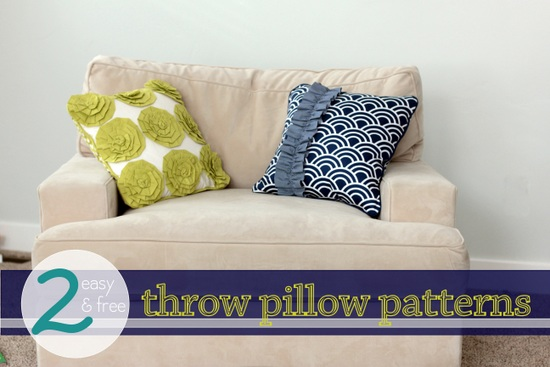 2 two free pillow patterns