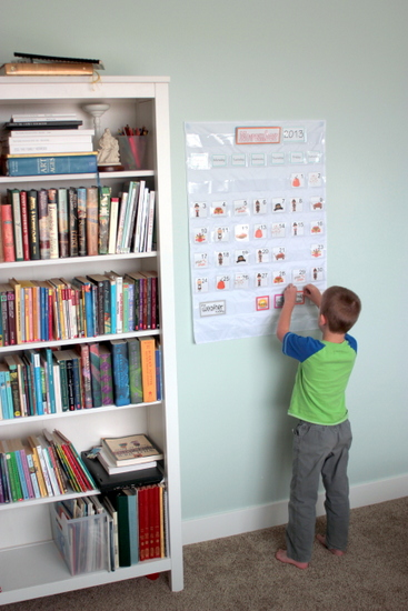 homeschool diy calendar chart