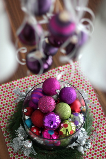 using leftover ornaments
