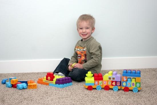 building toy train set