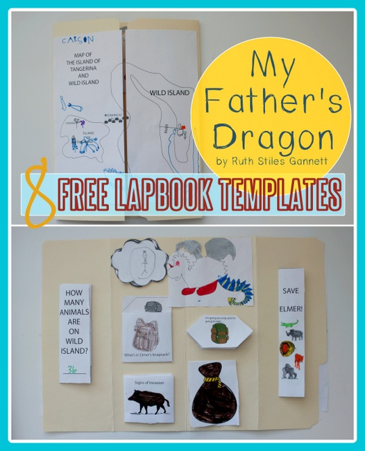 free lapbook printables my father's dragon