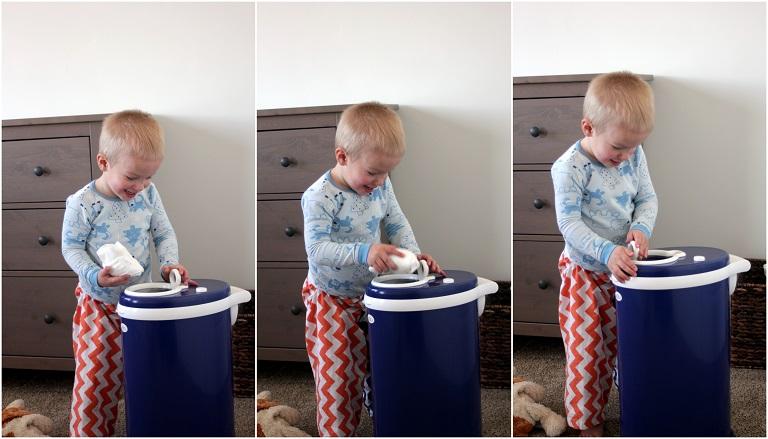 diaper pail collage