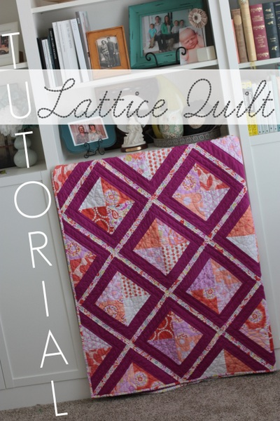 how to make a lattice quilt