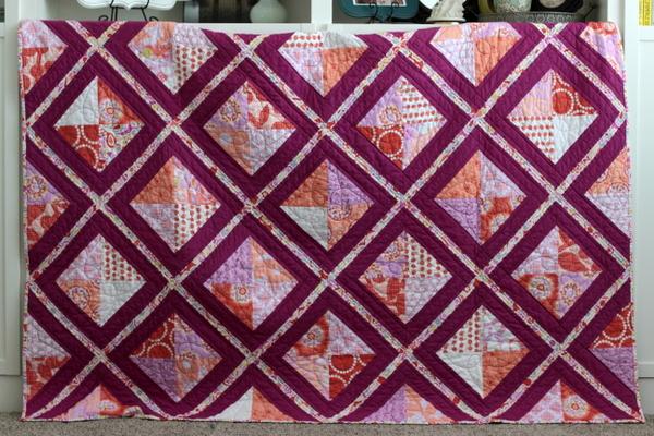 Tutorial Lattice Quilt Paper Piecing Vanilla Joy