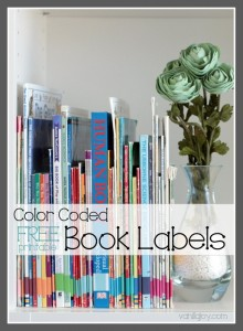 free printable book organization labels