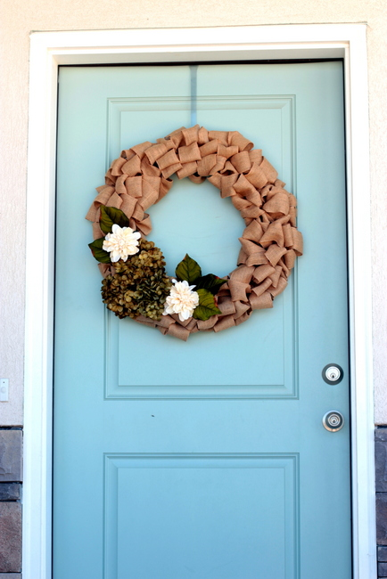 burlap wreath tutorial no sew