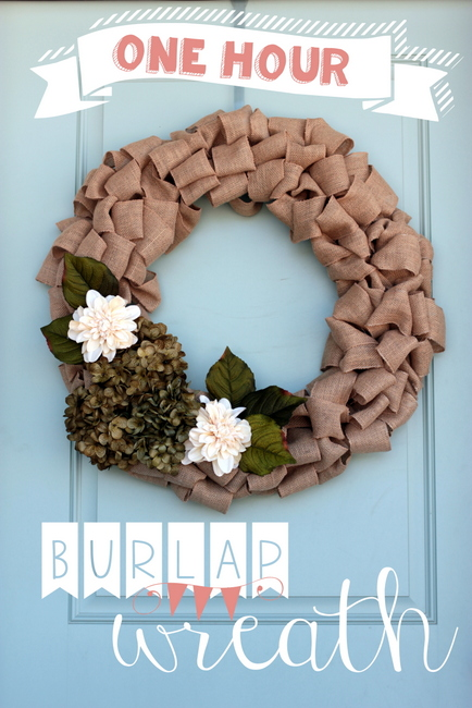no sew burlap fall wreath tutorial video