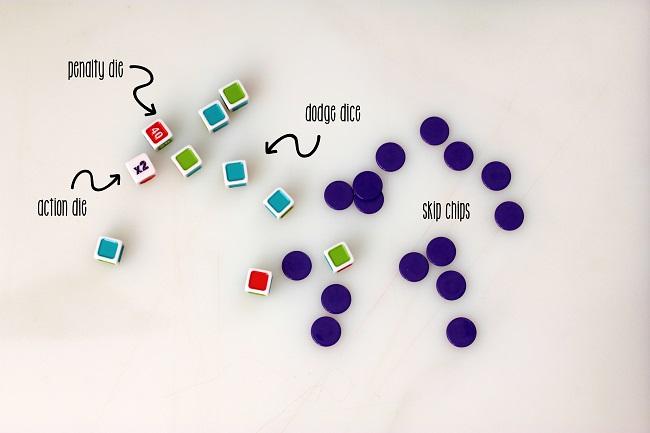 dodge dice pieces